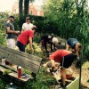 Davidson Scholars volunteer with community gardeners2