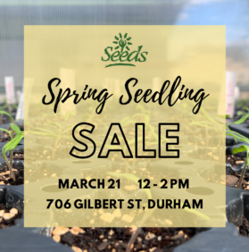 CANCELLED Spring Seedling Sale – March 21
